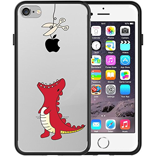 iphone-7-case-trendybox-clear-black-case-with-design-for-iphone-7-red-little-dinosaur