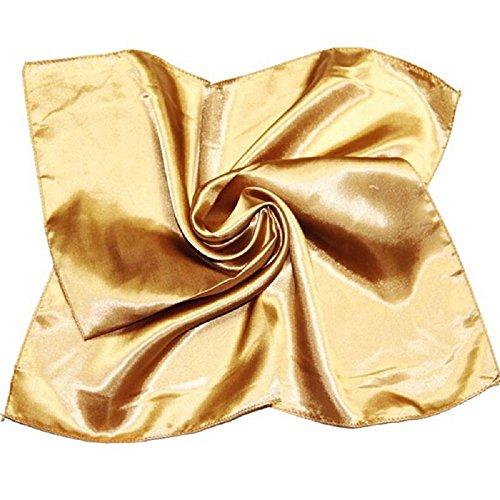 Satin Kopftuch Tuch Halstuch Hijab Dekotuch Esarp Scarf Turban Amira Arnisa 25 Unifarben (Gold)