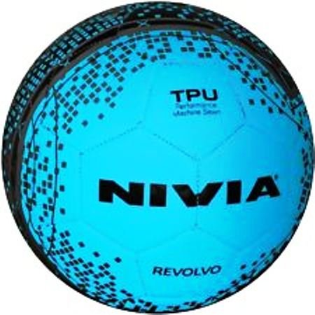 Pioneer Nivia Revolvo Football- Size 5 (Blue/Black)  available at amazon for Rs.540