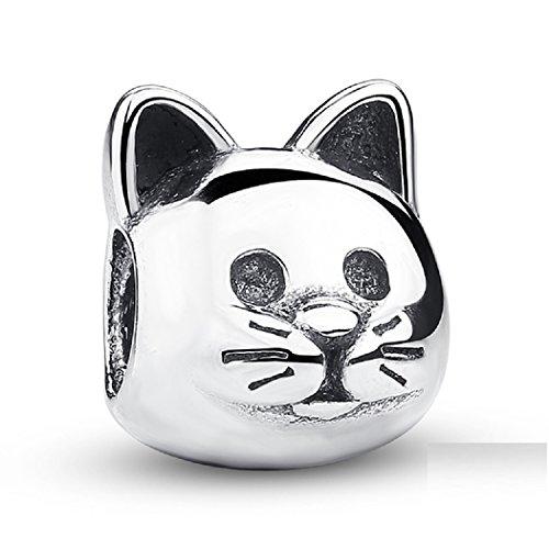 FeatherWish 925 Sterling Silber Ich liebe meine Katze Pet Animal Bead Charm passt Pandora Armband