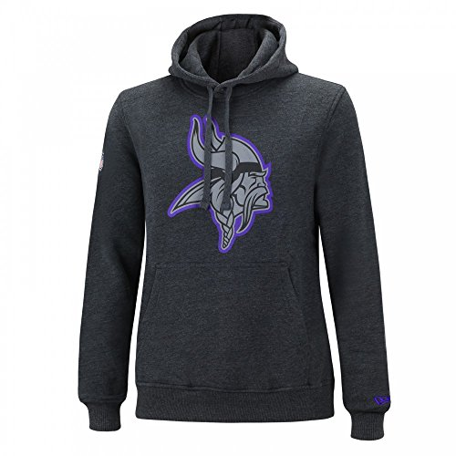 New Era NFL MINNESOTA VIKINGS Two Tone Pop Hoodie Pullover Charcoal