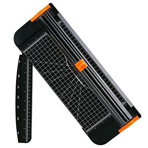 A4Papier Schneidegerät 30,5cm Mini Titan Papier Trimmer Handarbeit Schnitten Lineal Scrapbooking Werkzeug für Grußkarten Gutschein Craft Papier Label oder Foto (Trimmer Craft)