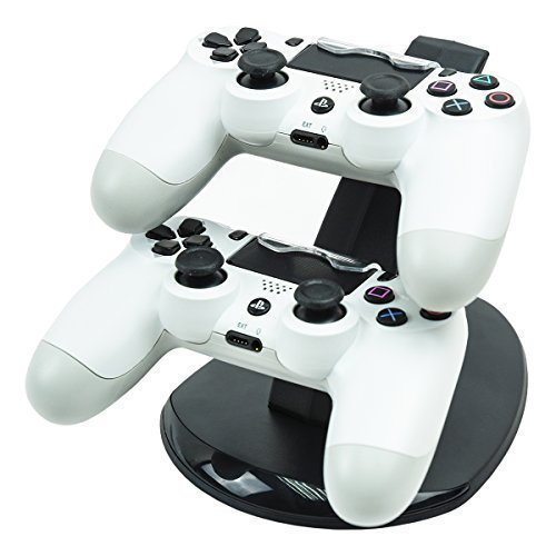 MP power @ Dual Station d'accueil support Dock Station de Charge Station Base double chargeur pour Sony PlayStation 4 Dualshock 4 PS4 Ps 4 Manette Controller Gamepad