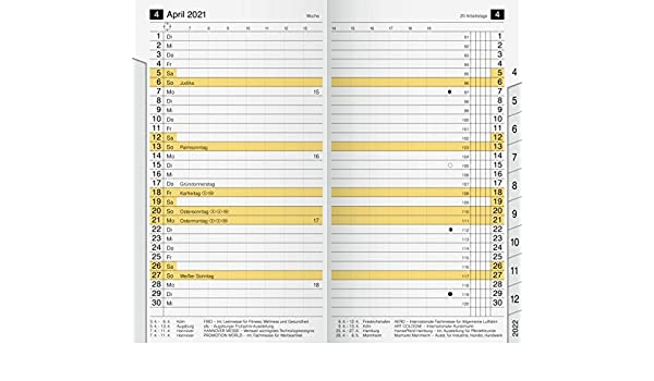 2 Seiten = 1 Woche 87 x 153 mm Kalendarium 2021 rido//id/é 7045600001 Taschenkalender//Faltkalender Miniplaner d12 Ersatzkalendarium