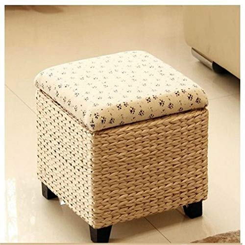 Dashou Wuzpx Furnitures Farbe: Small Foursquare Hocker, Seat Kruk Banks Madeira Fußhocker Hocker Sgabelli Klappleiter Werkbank Pouf Poef Kindermöbel Aufbewahrung Fußhocker