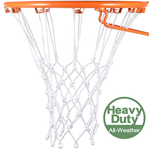 Syhood Rete di Ricambio per canestro da Basket per Tutte Le Condizioni atmosferiche Adatta per canestro da Basket Standard da Interno o Esterno 12