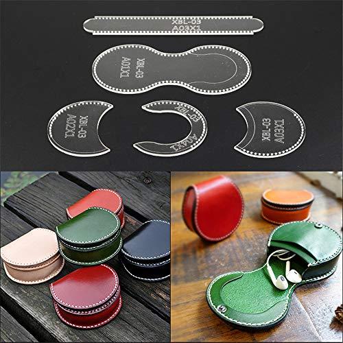 5 Stück klare Acryl Brieftasche Vorlage Visitenkarte Brieftasche Schablone DIY Leder Hand Handwerk Zeichnungen Set -