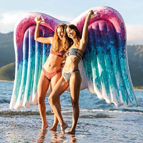 Engel Erwachsenen-stuhl (Tossi Engel Flügel Aufblasbar Schwimmbad Schweben Schwimmend Floß PVC Schwimmbad Liege zum Sommer Schwimmen Schwimmbad Party Strand Spielzeug zum Kinder und Erwachsene 251 * 160 cm)