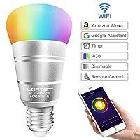 Specifiche: Interfaccia della Lampada: E27 Potenza: 7W Lumen: 400-450LM Colore della Luce: RGBW Temperatura Colore: 2700K-6400K Collegamento: Wi-Fi Durata di Funzionamento: 30000 ore