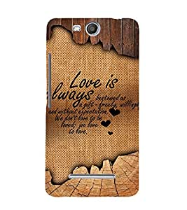 Beautiful Love Quote 3D Hard Polycarbonate Designer Back Case Cover for Micromax Bolt Q338