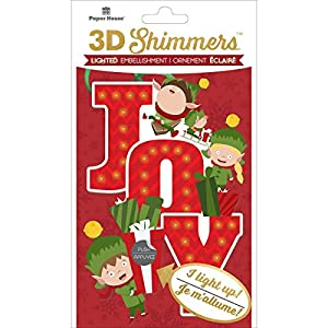 Paper House Productions Elf Joy LED-3D-Schimmer, Mehrfarbig