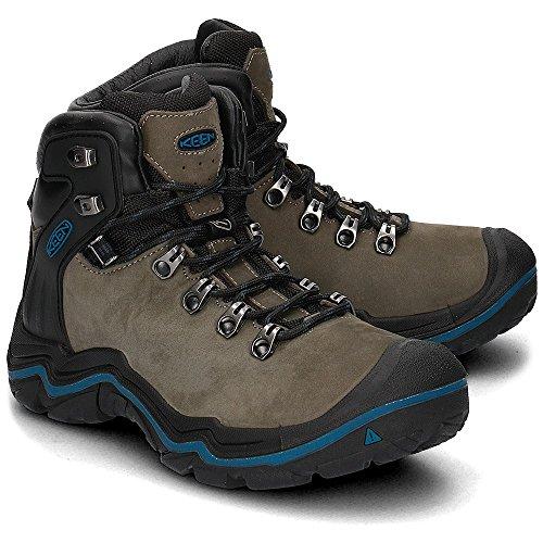 Keen Madeira Peak Mid WP - Chaussures - marron/bleu 2016 Magnet/Ink Blue