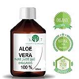 100% Pure Gel d'Aloe Vera Organique (liquide, sans épaississants) (100 ml)