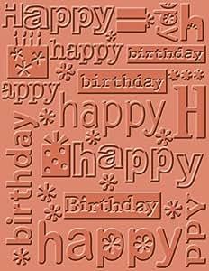 Cuttlebug 371133 Dossier de Gaufrage A2 Happy Birthday 0,96 x 11,7 x 20,9 cm