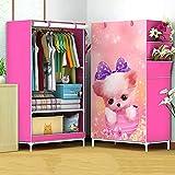 GONGYU Klappbarer Kleiderschrank - Tragbarer Kleiderschrank zum Aufhängen von Kleidern, Platzieren von Büchern, Spielzeughandtüchern - Platz sparend 70 * 41 * 150cm