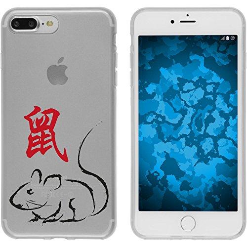 PhoneNatic Case für Apple iPhone 7 Plus Silikon-Hülle Tierkreis Chinesisch M9 Case iPhone 7 Plus Tasche + 2 Schutzfolien Motiv 01