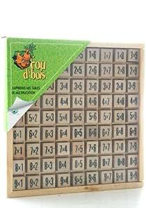 Table de multiplication en bois jeux et jouets - Logiciel educatif tables de multiplication ...