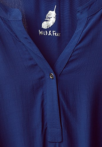 Street One Damen Bluse mit Raffung am Saum lapis blue (blau)