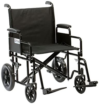 Drive DeVilbiss Healthcare Bariatric / Heavy Duty Steel Transport Chair