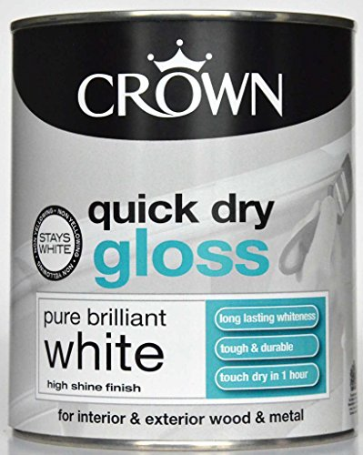 crown-quick-dry-gloss-15-l-pure-brilliant-white-paint-for-interior-exterior-wood-metal-brand-new