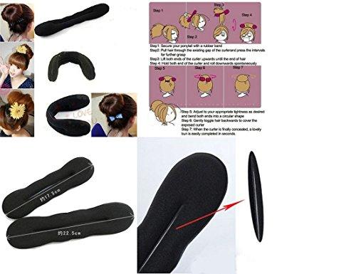 Mädchen Damen Haar-Torsion Schwamm Klipp Haarpflege Styling Flechten Halter Größe 22cm