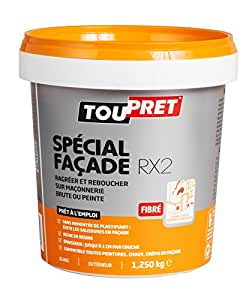 Toupret 251080 Enduit de rebouchage extérieur Spécial Façade RX2 pâte 1,25 kg