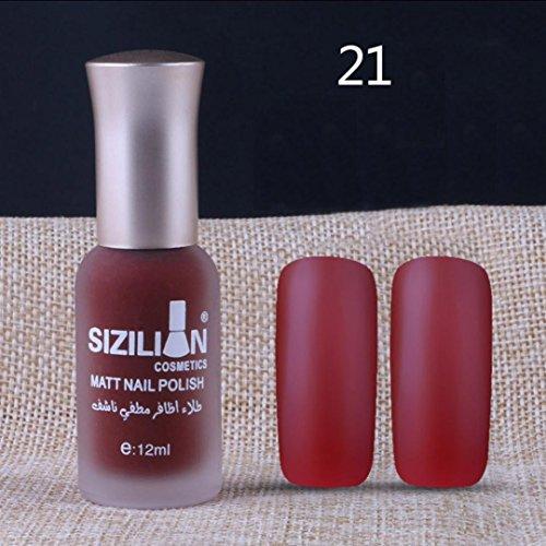 samLIKE Nagellack, 12ml Matte dull Nagellack schnell trocken langlebig Nail Art Matte Nagellack Gel (A)