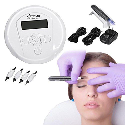 Tattoo Augenbrauen Lippen Maschine Kit, professionelle Tattoo Digital Permanent Microblading Tattoo Pen mit und Kopf Gerät(EU) (Lippen Gerät)