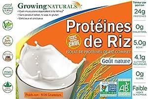 Isolat à 90% de protéines de riz cru germé vegan et non OGM Certifié BIO 918g