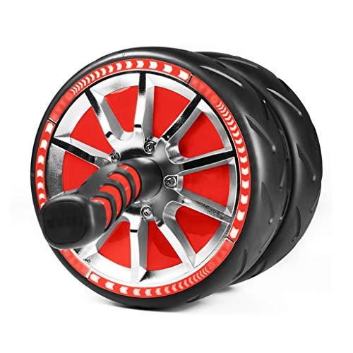 Bauchtrainer Abdominal Roller Ab Roller for Abs Workout Ab Roller Rad Sportgeräte Mit Zähleranzeige Ab Wheel Sportgeräte Sport- Und Fitnessrad (Color : Red, Size : 43 * 22.5 * 22.5cm)