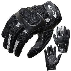 Motorradhandschuhe PROANTI® Motorrad Handschuhe Sommer (Gr. XS - XXL, schwarz, kurz) - L