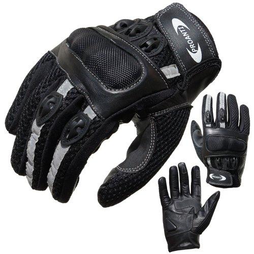 Motorradhandschuhe PROANTI® Motorrad Handschuhe Sommer (Gr. XS - XXL, schwarz, kurz) - M