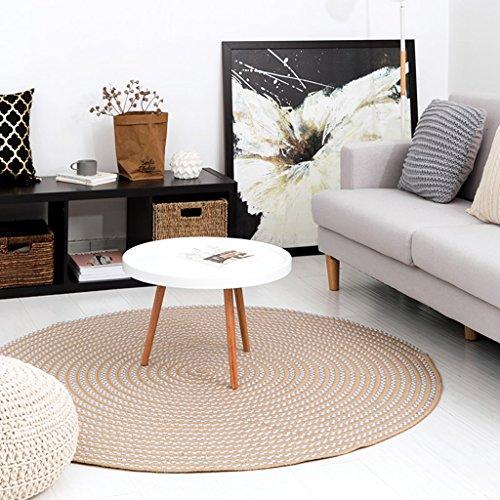 Baumwoll-wohnzimmer-stuhl (GZP Innenteppich Runde Teppich, Baumwolle handgewebte Computer Stuhl Fußmatten Wohnzimmer Schlafzimmer Couchtisch Runde Teppich Decke (Farbe : B, größe : ROUND-120cm))