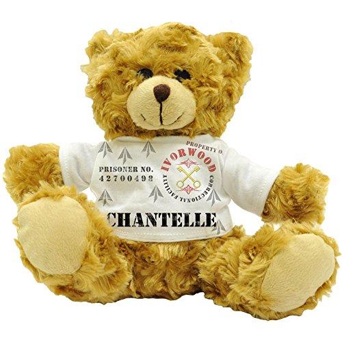 Chantelle Gesichtspeeling, Eigentum der Fazilität Ivorwood Correctional-Statuette Name Prisoner Plüsch-Teddybär (22 cm)