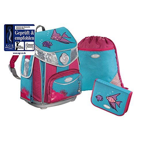 Sammies by Samsonite Premium plus Schulranzen-Set 3-tlg. Under the Sea