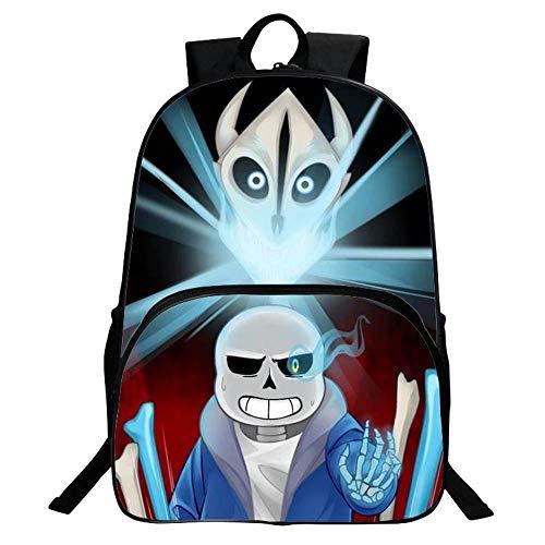 TYYM Backpack Kinder Schulrucksack 3D Cartoon Undertale Anime Gedruckt Bookbags 16 Zoll Geeignet Für 6-14 Jahre Alt K-40 * 30 * 16cm (Teen Mädchen Superhelden Kostüm)
