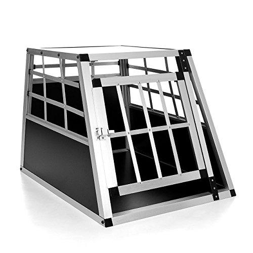 hundeinfo24.de Happypet® DGTC03 Hundetransportbox 69 x 54 x 50,5 cm aus Aluminium
