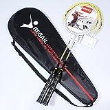 Yool Set 2 Pezzi Di Ricambio Per Racchetta Da Badminton Rampone Per Racchette Da Badminton Ultra Leggero Con Racchetta In Carbonio,Yellow
