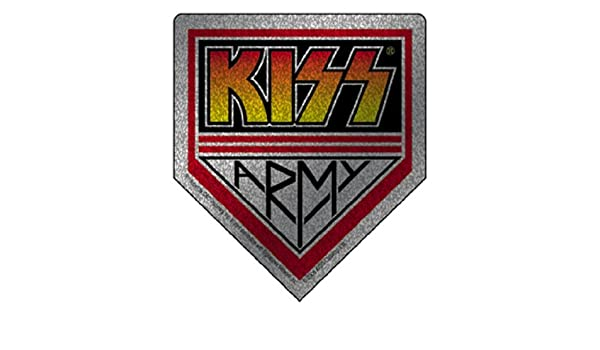 KISS Army Glitter High Quality STICKER ADESIVO DECAL Officially Licensed Original Artwork 3.5 x 3.9