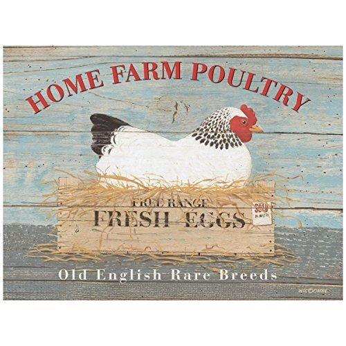 Rare BREED Poule la publicité Sign 20 x 30 cm Home Farm volaille plaque murale en métal