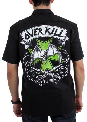 Overkill - - Brodé sur la poitrine des hommes Matese Croix travail Tissé Black