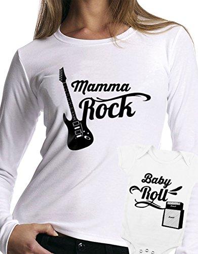 t-shirt manica lunga e body festa della mamma - Mamma rock, Baby rock -tutte le taglie uomo donna maglietta by tshirteria