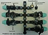 Vormontierter Verteiler für Ventilbox inkl. Rain Bird Magnetventil Bewässerung , Anschluß 32 mm Pe-Rohr (5 Zonen)