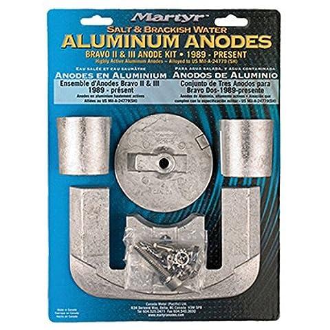 Martyr CMBRAVO23KITA Aluminum Alloy Merc Bravo 2&3 Mercury Anode Kit Aluminum by Martyr Anodes
