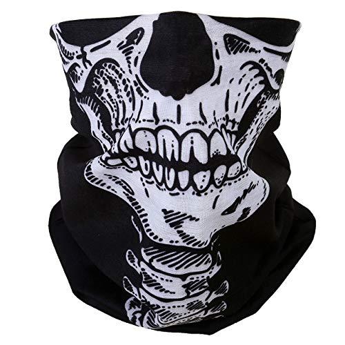 ACBungji Multifunktionstuch Gesichtsmaske Motorradmaske Sturmmaske Maske für Motorrad Ski Snowboard Snowboard Paintball Fahrrad Bergsteigen Trekking Skateboarden Angeln Skull Halloween Clown 61617