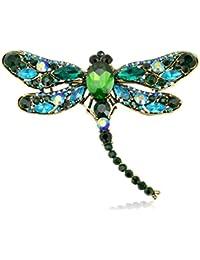 richbest Verano Fashion Jewelry accesorios broche para Girl Vintage Lovely bufanda de cristal libélula Pin de solapa brooches para las mujeres