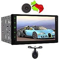 Androide universal estéreo 8.1 del coche del dinar del doble de unidad principal de navegación con 8 Core 1024 600 pantalla táctil AM FM RDS, ayuda Bluetooth, GPS, Wi-Fi, MirrorLink, SWC, AUX, USB / SD, OBD2 + cámara de copia de seguridad