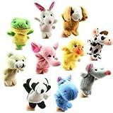 Surtido Marioneta de dedo peluche plumífero juguetes para niños bebé Pink Pig Multicolor multicolor