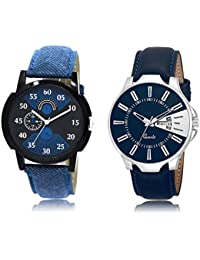 The Shopoholic Black Blue Combo Best Combo Pack Black And Blue Dial Analog Watch For Boys Watches For Boy