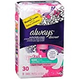 Always Discreet Bladder Protection Ultra Thin Liners Regular Length - 30 ct (Cases of 3)
